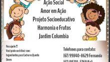 AMOR EM AÇÃO: amigos se unem para ajudar projeto 'Harmonia e Fruto' no Jardim Colúmbia