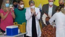 Em dia histórico para MS, quatro são vacinados contra a covid no Hospital Regional