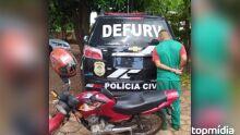 Interno do semiaberto é preso com moto furtada no Novos Estados