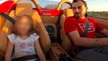 'Bobão dos rachas' de Campo Grande dá péssimo exemplo e bota até a filha pequena em risco
