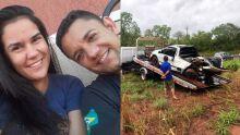 Mulher morre após perder direção de carro e bater em árvore em MS