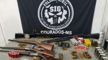 Polícia Civil desarticula comércio ilegal de armas e apreende arsenal em MS