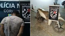 Homem rouba moto, é abandonado pelo comparsa e acaba no 'xadrez'