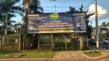 No Nova Campo Grande, moradores apelam a outdoor para chamar atenção das autoridades
