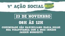 Ação social acontece neste sábado no Jardim Noroeste