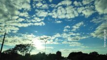 Terça de tempo parcialmente nublado e calor de 38°C em Mato Grosso do Sul