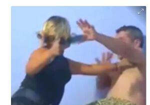 Mulher apanha, escapa e mete o chute no ex-marido nas Moreninhas