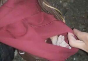 Bebê é encontrado em mochila jogado em matagal