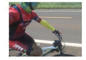 Ciclista é assaltada por bandido da moto vermelha na MS-010