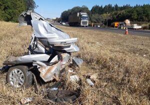 Família em carro com placas de MS morre em grave acidente no interior de SP