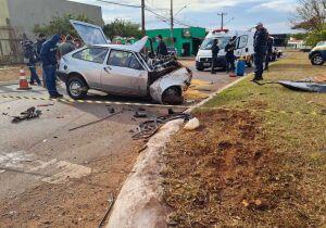 Motorista bate carro e morre na Avenida Guaicurus, em Campo Grande