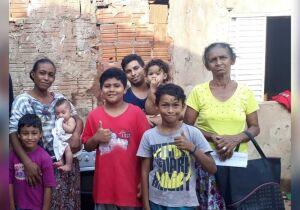 Casal precisa de emprego para dar comida para os cinco filhos em Campo Grande