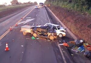 Motorista morre e dois ficam feridos em acidente na BR-163