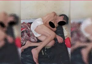 Filho é preso por manter mãe só de fralda em quarto escuro