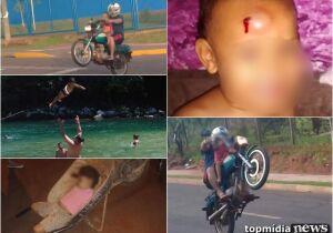 LOUCURA: pai que fez 'zerinho' tem histórico em arriscar a vida da criança com brincadeiras perigosa