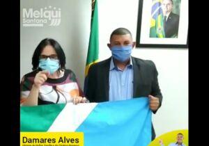 VÍDEO: Damares apoia pré-candidato de MS que usa verba pública pra protestos