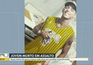 Rapaz é morto ao tentar defender mãe de assalto em lanchonete