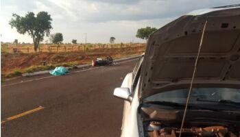 Motorista que matou motociclista em acidente é procurado pela polícia em Camapuã