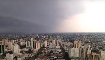 VÍDEO: câmera registra passo a passo da chuvona que caiu em Campo Grande