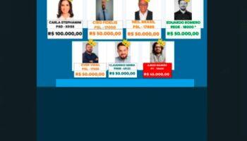 'Os reis do fundão eleitoral': conheça os candidatos a vereador que estão com o bolso cheio
