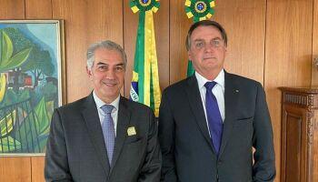 Azambuja pede recursos para combate a incêndios no Pantanal em reunião com Bolsonaro