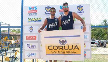 Dupla patrocinada pelo TopMídiaNews vence torneio de vôlei de praia em Cuiabá