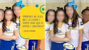 Escola esconde menina negra de propaganda e caso vai parar na delegacia