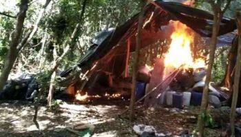 Na fronteira, Polícia destrói 12 acampamentos do tráfico