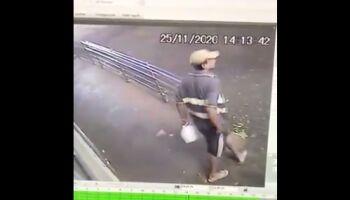 Vídeo: sargento da PM pede que desconhecido devolva carteira caída na Dom Aquino
