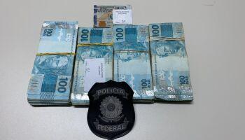 PF apreende R$ 40 mil em operação que investiga fraudes em postos de combustíveis em MS