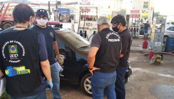 Força-tarefa autua postos de combustíveis e revendas de gás em Campo Grande
