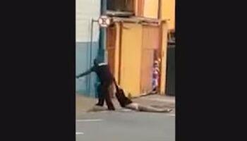 Vídeo: segurança de rodoviária arrasta e joga homem em calçada em Campinas