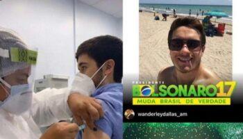 Revoltante! Filho de ex-deputado também fura fila e recebe vacina em Manaus