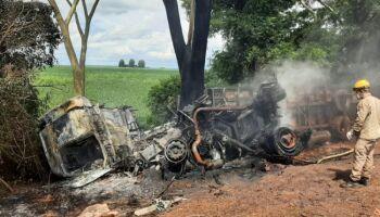 Bombeiro é atropelado ao sinalizar rodovia com acidente em Fátima do Sul