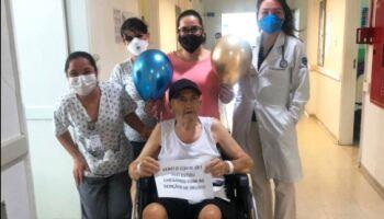 Com 74 anos, Alcy vence a covid-19 e deixa Santa Casa em Campo Grande
