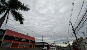 Previsão aponta pancadas de chuvas isoladas nesta segunda-feira em MS