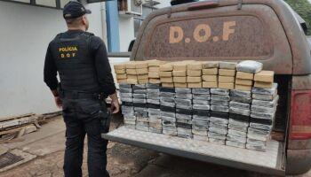 Cocaína avaliada em mais de R$ 3 milhões é apreendida durante Operação Hórus