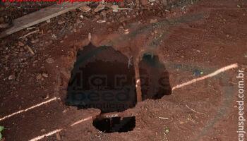 Macabro: bombeiros descobrem ossada de homem dentro de fossa em Maracaju