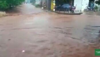 Vídeo: enchente destrói marcenaria e revolta comerciante em Ponta Porã