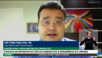 Candidato à presidência da Câmara passa por sabatina com deputado Fábio Trad