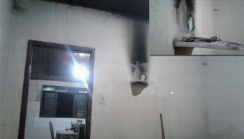 Vela acesa em altar provoca princípio de incêndio em Corumbá