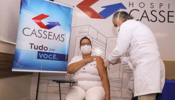 Cassems inicia a vacinação em profissionais atuantes na linha de frente do combate à Covid-19