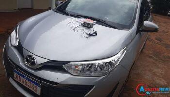 Desaparecido desde ontem, carro de taxista é encontrado na fronteira de MS