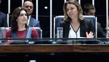 Simone Tebet ganha apoio de Leila Barros na corrida pela presidência do senado