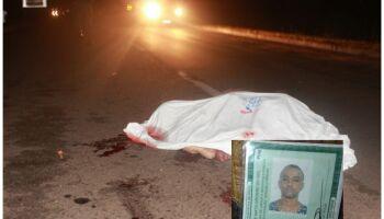 Pedestre de 37 anos é atropelado e morre na MS-134