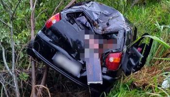 Motorista capota carro e criança de 6 anos morre na MS-178