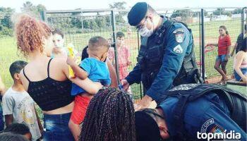 Vídeo: Vila Fernanda recebe playground e reinauguração conta com ação social da PM