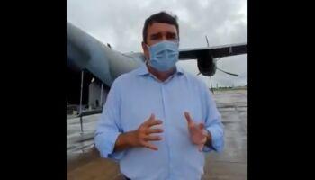 Vídeo: Riedel se emociona em chegada da vacina em MS e destaca 'vitória da ciência'