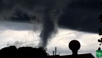 Vídeo: morador filma tornado em Bela Vista e fala em 'vento de arregaçar'