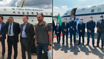 Comitiva presidencial é criticada ao sair do Brasil sem máscara e usar a proteção em Israel